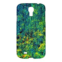 Flowers Abstract Yellow Green Samsung Galaxy S4 I9500/I9505 Hardshell Case
