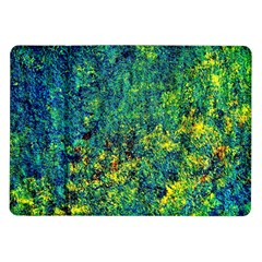 Flowers Abstract Yellow Green Samsung Galaxy Tab 10.1  P7500 Flip Case