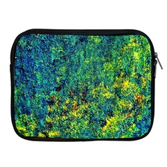 Flowers Abstract Yellow Green Apple iPad 2/3/4 Zipper Cases