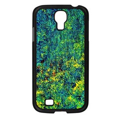 Flowers Abstract Yellow Green Samsung Galaxy S4 I9500/ I9505 Case (Black)