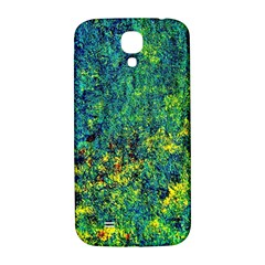 Flowers Abstract Yellow Green Samsung Galaxy S4 I9500/I9505  Hardshell Back Case