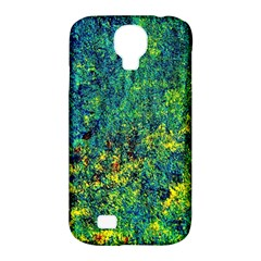 Flowers Abstract Yellow Green Samsung Galaxy S4 Classic Hardshell Case (PC+Silicone)