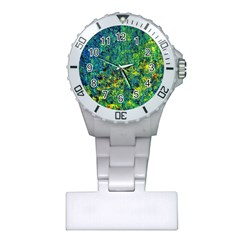 Flowers Abstract Yellow Green Nurses Watches