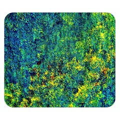 Flowers Abstract Yellow Green Double Sided Flano Blanket (Small)