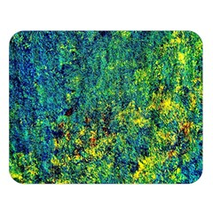 Flowers Abstract Yellow Green Double Sided Flano Blanket (large)