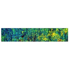 Flowers Abstract Yellow Green Flano Scarf (Small)