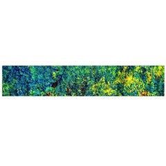 Flowers Abstract Yellow Green Flano Scarf (large)