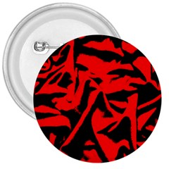 Red Black Retro Pattern 3  Buttons