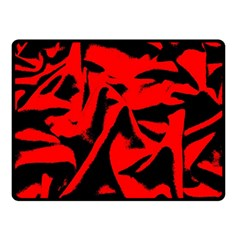 Red Black Retro Pattern Fleece Blanket (Small)