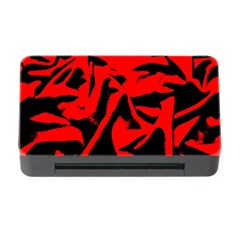 Red Black Retro Pattern Memory Card Reader with CF