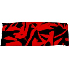 Red Black Retro Pattern Body Pillow Cases Dakimakura (two Sides)