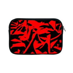 Red Black Retro Pattern Apple iPad Mini Zipper Cases