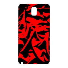 Red Black Retro Pattern Samsung Galaxy Note 3 N9005 Hardshell Back Case