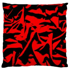 Red Black Retro Pattern Large Flano Cushion Cases (One Side)