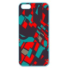 Red blue piecesApple Seamless iPhone 5 Case (Color)
