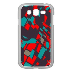 Red blue pieces			Samsung Galaxy Grand DUOS I9082 Case (White)