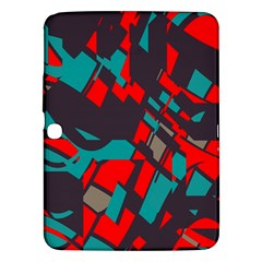 Red blue pieces			Samsung Galaxy Tab 3 (10.1 ) P5200 Hardshell Case