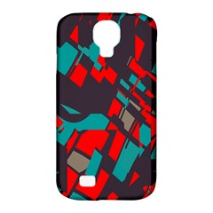 Red blue piecesSamsung Galaxy S4 Classic Hardshell Case (PC+Silicone)