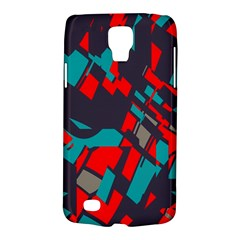 Red blue piecesSamsung Galaxy S4 Active (I9295) Hardshell Case