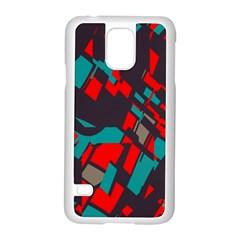 Red Blue Piecessamsung Galaxy S5 Case (white)
