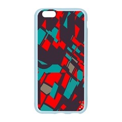 Red blue piecesApple Seamless iPhone 6/6S Case (Color)