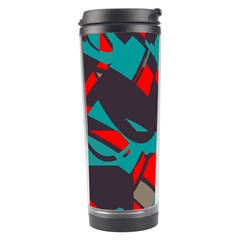 Red blue pieces Travel Tumbler