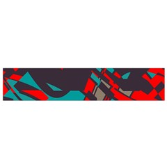 Red Blue Pieces Flano Scarf