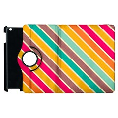 Colorful diagonal stripes			Apple iPad 3/4 Flip 360 Case