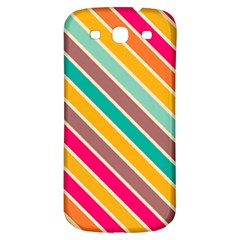 Colorful diagonal stripes			Samsung Galaxy S3 S III Classic Hardshell Back Case
