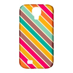 Colorful diagonal stripes			Samsung Galaxy S4 Classic Hardshell Case (PC+Silicone)
