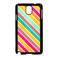 Colorful Diagonal Stripes			samsung Galaxy Note 3 Neo Hardshell Case (black)