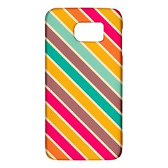 Colorful Diagonal Stripes			samsung Galaxy S6 Hardshell Case