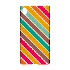Colorful diagonal stripes			Sony Xperia Z3+ Hardshell Case