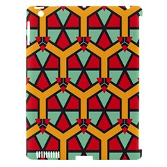 Honeycombs triangles and other shapes patternApple iPad 3/4 Hardshell Case (Compatible with Smart Cover)