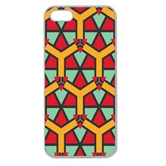Honeycombs triangles and other shapes pattern			Apple Seamless iPhone 5 Case (Clear)