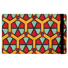 Honeycombs triangles and other shapes pattern			Apple iPad 3/4 Flip Case