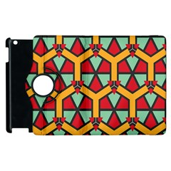 Honeycombs triangles and other shapes pattern			Apple iPad 3/4 Flip 360 Case