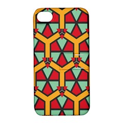 Honeycombs triangles and other shapes patternApple iPhone 4/4S Hardshell Case with Stand