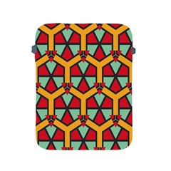 Honeycombs triangles and other shapes patternApple iPad 2/3/4 Protective Soft Case