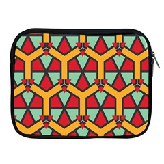 Honeycombs triangles and other shapes pattern			Apple iPad 2/3/4 Zipper Case