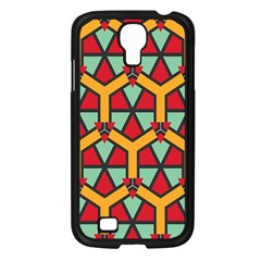 Honeycombs triangles and other shapes patternSamsung Galaxy S4 I9500/ I9505 Case (Black)
