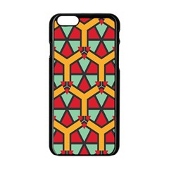 Honeycombs Triangles And Other Shapes Pattern			apple Iphone 6/6s Black Enamel Case