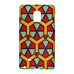 Honeycombs triangles and other shapes pattern			Samsung Galaxy Note Edge Hardshell Case