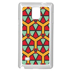 Honeycombs Triangles And Other Shapes Patternsamsung Galaxy Note 4 Case (white)