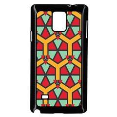 Honeycombs Triangles And Other Shapes Patternsamsung Galaxy Note 4 Case (black)