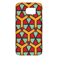 Honeycombs triangles and other shapes patternSamsung Galaxy S6 Hardshell Case