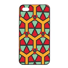 Honeycombs triangles and other shapes patternApple iPhone 4/4s Seamless Case (Black)