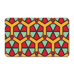 Honeycombs triangles and other shapes pattern			Magnet (Rectangular)