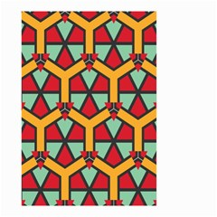 Honeycombs Triangles And Other Shapes Pattern Small Garden Flag