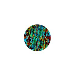 Turquoise Blue Green  Painting Pattern 1  Mini Magnets